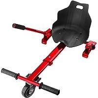 "E T Asiento Hoverkart Auto balanceo Go Kart Ajustable Holder Accesorio para 6.5"" 8"" 10"" Auto Equilibrio de Dos Ruedas Scooter Cesta (con 2 Pares Cinturon de Seguridad)"