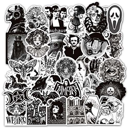 🥇 Gothic Stickers for Hydro Flask | 50 PCS | Vinyl Waterproof Stickers for Laptop