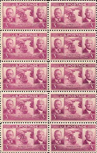 The Panama Canal * Theodore Roosevelt, George Washington Goethals * Block of 10 US Postage Stamps (Scott #856) (Theodore Roosevelt Lake)