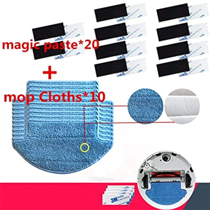 HBK 30pcs/lot Original Thickness Xiaomi Mi Robot Vacuum Cleaner mop Cloths Parts kit (