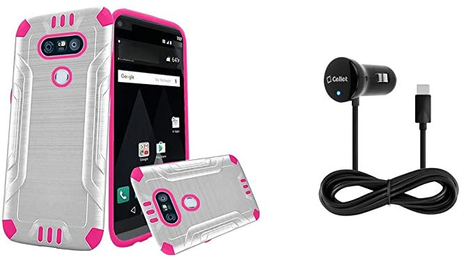 Amazon com: LG V20 - Accessory Bundle with [White / Pink