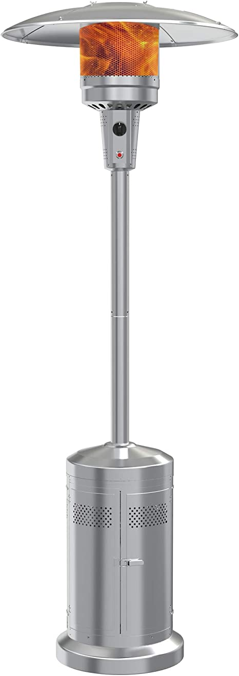 Gas Patio Heater With Wheels 48 000 Btu Of Outdoor Heaters For Patio Propane For Commercial And Household Use Stainless Steel Outdoor Propane Heater With Csa Certified For Garden Kitchen Dining