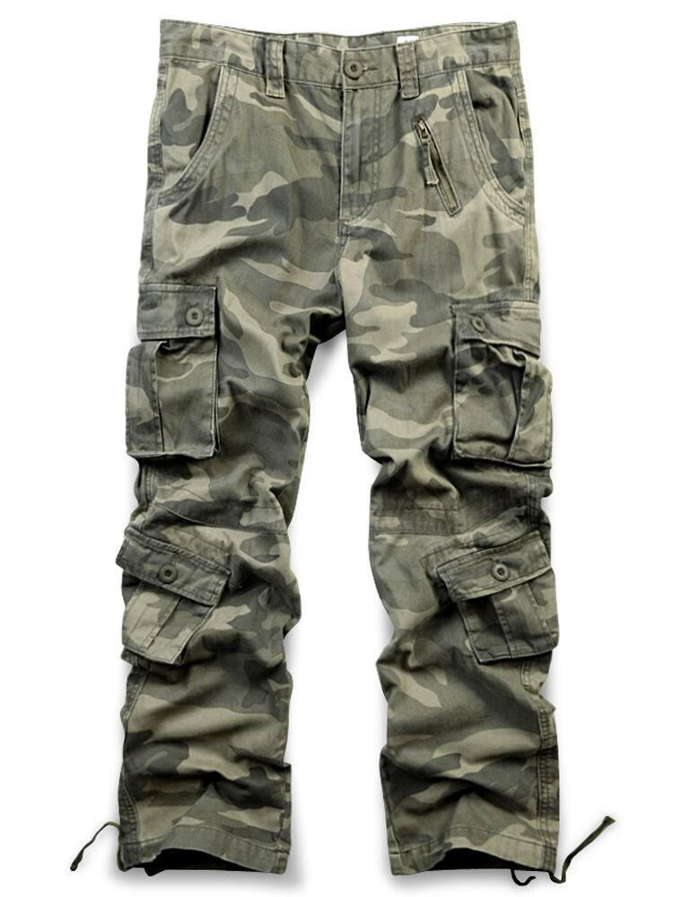 Jessie Kidden Men's Casual Military Cargo Pants, 8 Pockets Cotton Wild Combat Tactical Trousers,7533 Yellow Camo,42