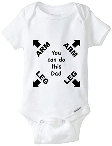 3cfdbf22f Amazon.com  BLAKENREAG Can Do This Dad Funny Baby Onesie Gerber ...