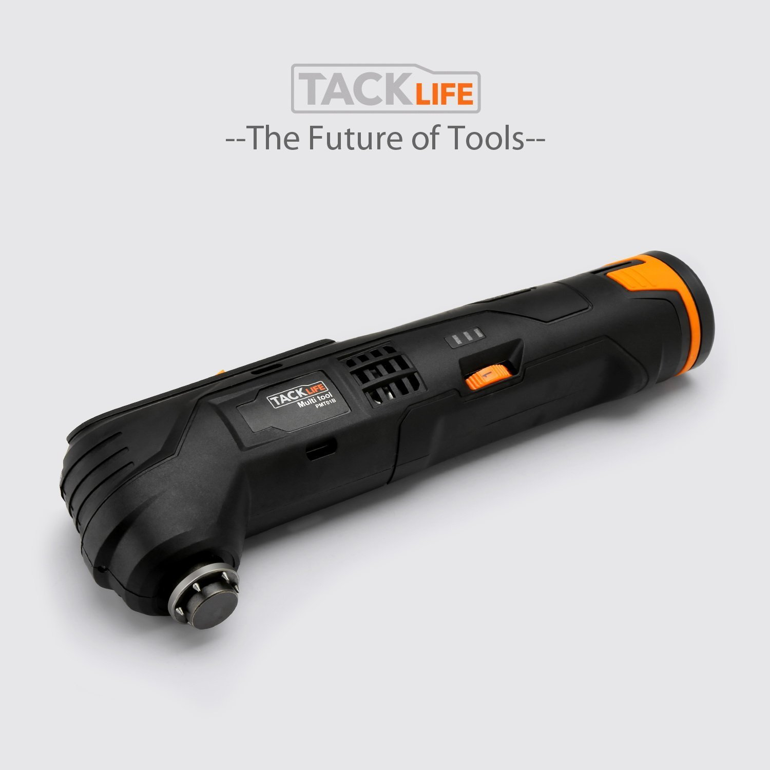 Tacklife 12V Oscillating Tool, 6 Variable Speed Lithium-Ion Cordless Oscillating Multi-Tool with LED, 1 Hour Fast Charge, Great for Sanding Polishing Cutting Scraping Cleaning, 23pcs Accessories