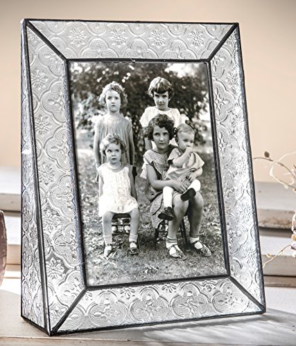 J Devlin Pic 126-57V 5x7 Picture Frame Clear Stained Glass V