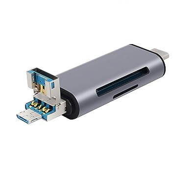 Neoteck Lector de Tarjetas USB 3 en 1 USB 3.0 Tipo C TF SD ...