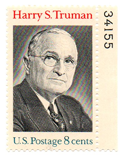 USA Postage Stamp Single (With Plate Number) 1973 Harry S.Truman Issue 8 Cent Scott #1499