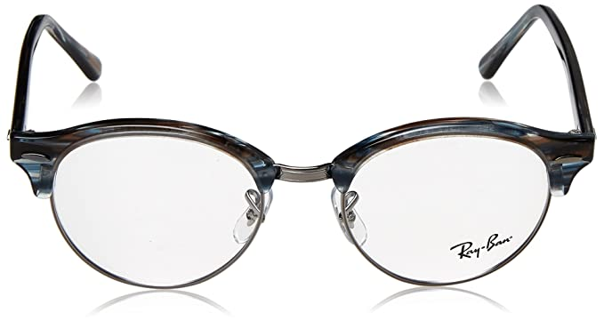 f0a6c4d2c2 Amazon.com  Eyeglasses Ray-Ban Optical RX 4246 V 5750 BLUE GREY STRIPPED   Clothing