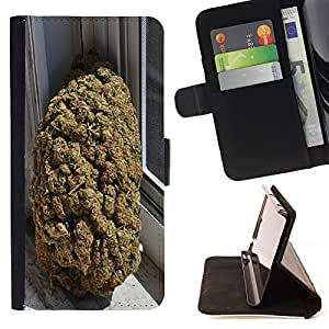 - Weed weed hipter quote Marijuana Kush Weed - - Style PU Leather Case Wallet Flip Stand Flap Closure Cover FOR HTC One M7 - Devil Case -