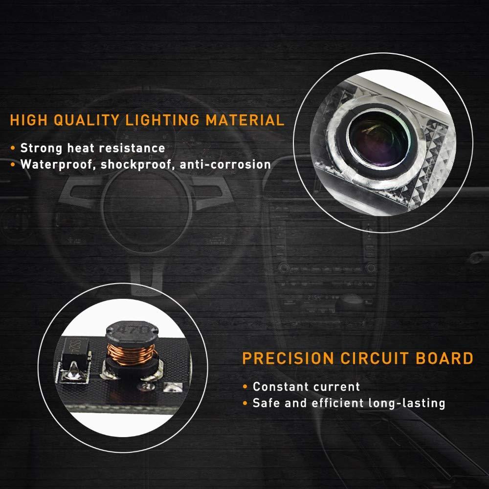 Voiture LED Projecteur Lumi/ère Bienvenue Pour Porte de voiture d/écoratifs entr/ée Logo de projection Lumi/ères