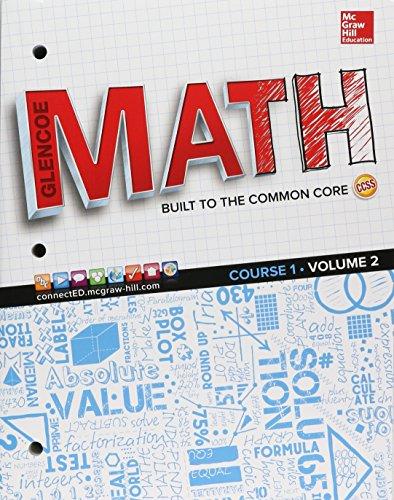 Glencoe Math  Course 1  Student Edition  Volume 2  Math Applic   Conn Crse