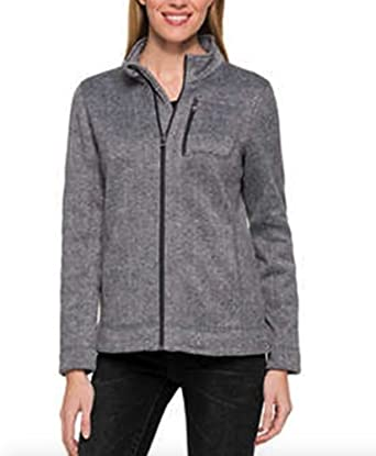 Marc New York Performance Womens Fleece Lined Performance Full-Zip Sweater