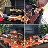Makimy 3-Piece BBQ Tool Set - Gift Box - Best Value Grill Accessories Professional-Grade Heavy Duty Extra Strong Stainless-Steel With Non-Slip Handles on Amazon - Perfect for Smokers, Charcoal, Gas, Electric and Infrared Outdoor Grills - The Ideal Gift Idea for Men - Perfect Gift For Dad