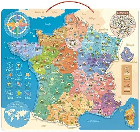 Vilac 2589 - Mapa de Francia educativa, Multicolor: Amazon.es: Juguetes y juegos