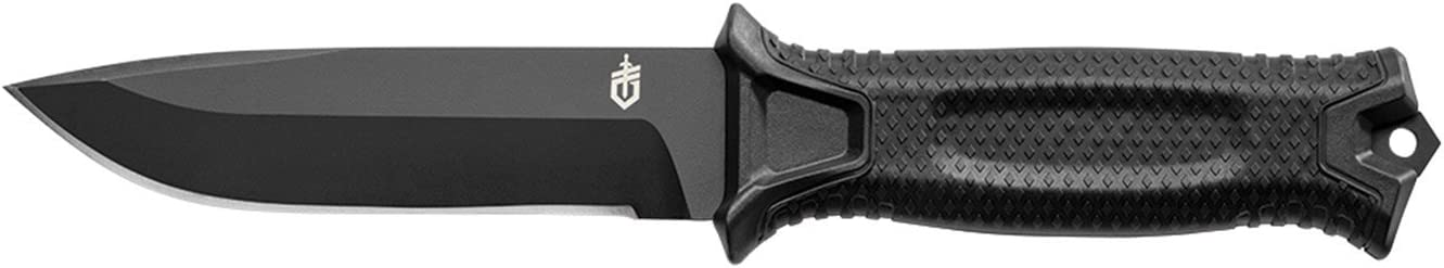Gerber StrongArm Fixed Blade Knife with Fine Edge – Black