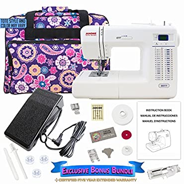 Janome 8077 Computerized Sewing Machine with Bonus Bundle