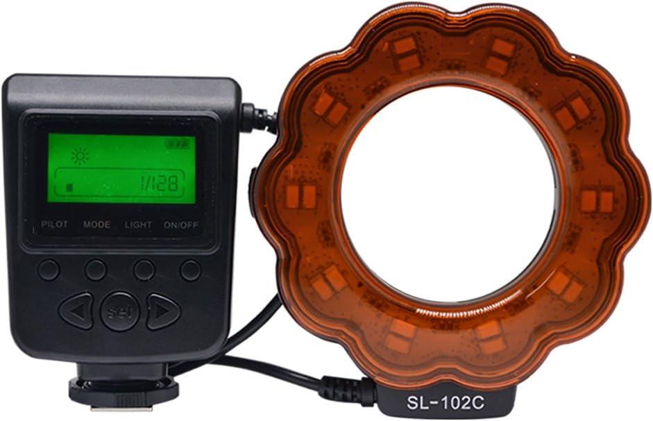 Macro LED Ring Flash(LCD Display) for 40.5mm 62mm Venidice SL-102 Camera Manual Ring Light Flash 72mm 58mm 77mm Lens DSLR Cameras 55mm 67mm 52mm