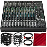 micro mixer with phantom power - Mackie 1642VLZ4 16-Channel 4-Bus Compact Mixer Bundled with MONO1/4