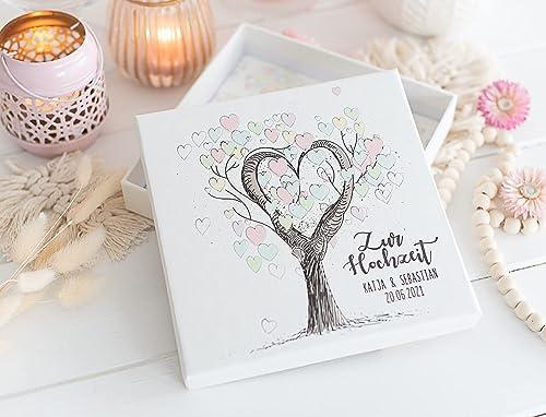 Geldgeschenk Geld Verpackung Zur Hochzeit Personalisierte Hochzeitsgeschenke Fur Brautpaar Tree Of Love Amazon De Handmade