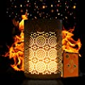 Portable Flickering Flame LED Light Decor, Vintage Romantic Flame Burn Simulation Decoration Lighting, IPX4 Water-resistant, 20hr Built in Rechargeable Battery & Magnetic Base, Votive Lamp Decor
