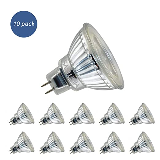 Realm Bombillas LED GU5.3 MR16, 5W=50W Halógena, 380Lm, Blanco