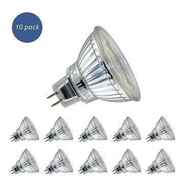 Sanlumia Bombillas LED GU5.3 MR16, 5W=50W Halógena, 400Lm, Blanco