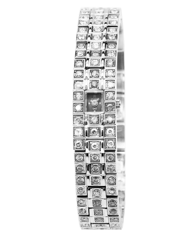 Q&Q Grandeux Damenuhr mit Silberfarbiges armband Analog Quarz Y011-202