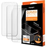 Spigen Curved Crystal Galaxy S7 Edge Screen Protector with Crystal Film 3 Pack for Galaxy S7 Edge