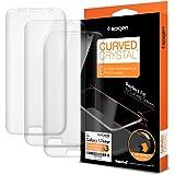 Spigen 556FL20257 - Cubiertas Curved Crystal para Samsung Galaxy S7 EDGE, color transparente, 2 unidades en el paquete