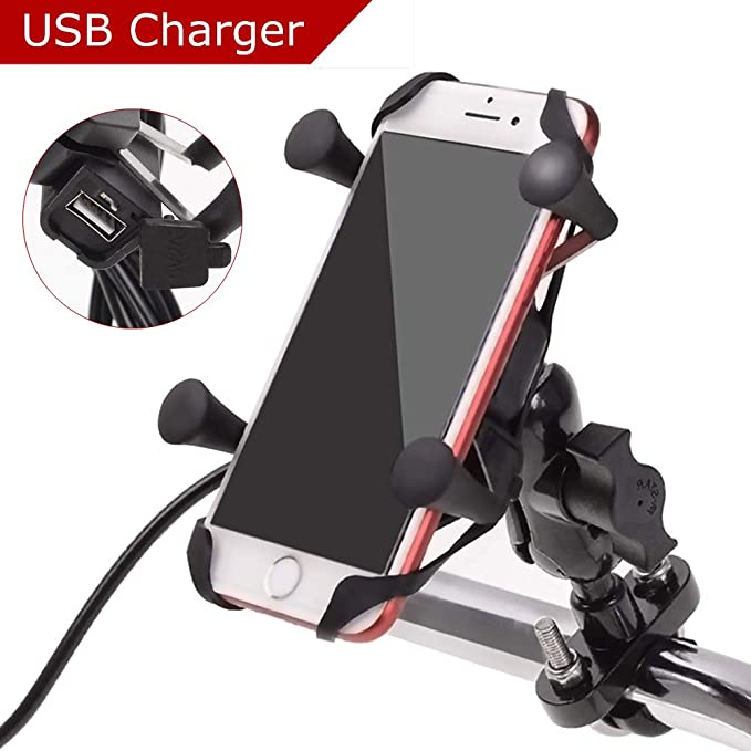 Motorcycle Handlebar Cell Phone Charger