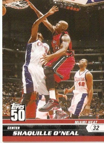 - 2007-08 (2008) Topps 50th Anniversary Limited Edition # 14 Shaquille O'Neal / Miami Heat - NBA Basketball Trading Cards