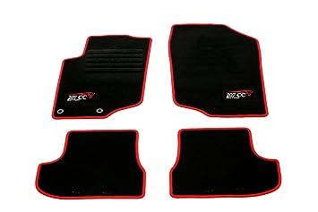 Velours Fußmatten  Peugeot 207 CC ab Bj schwarz 03//2007 Auto Teppiche 4er Set