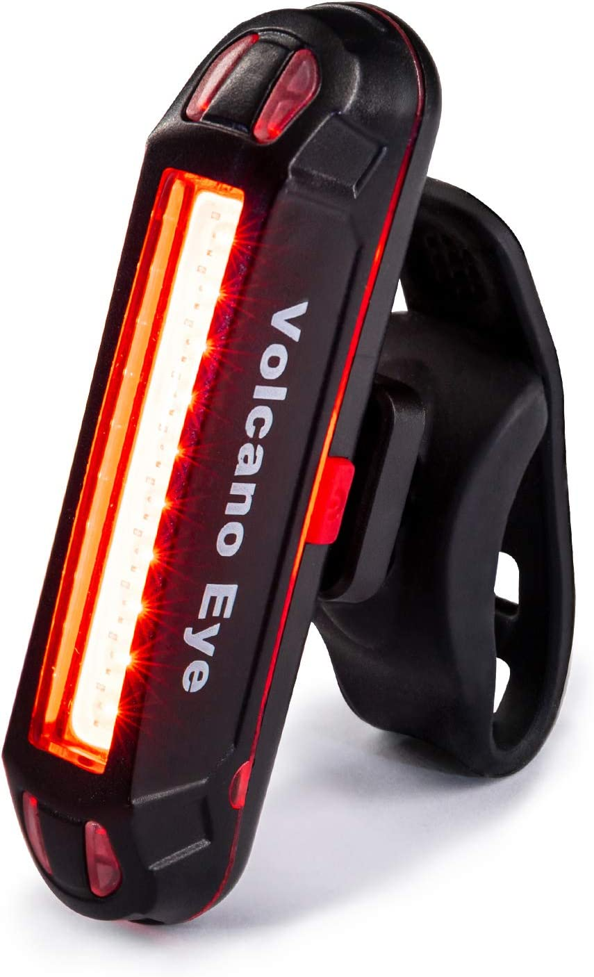 6 Modes Red//White Rear Bicycle Bike Tail Light USB Rechargeable Road MTB Helmet