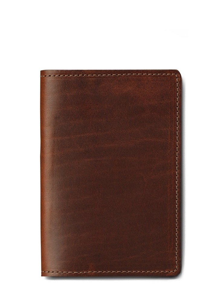 J.W. Hulme Leather Passport Wallet, Slim Design for Travel, American Heritage