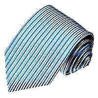 LORENZO CANA Luxury Italian 100% Silk Tie Woven Necktie Blue 84087