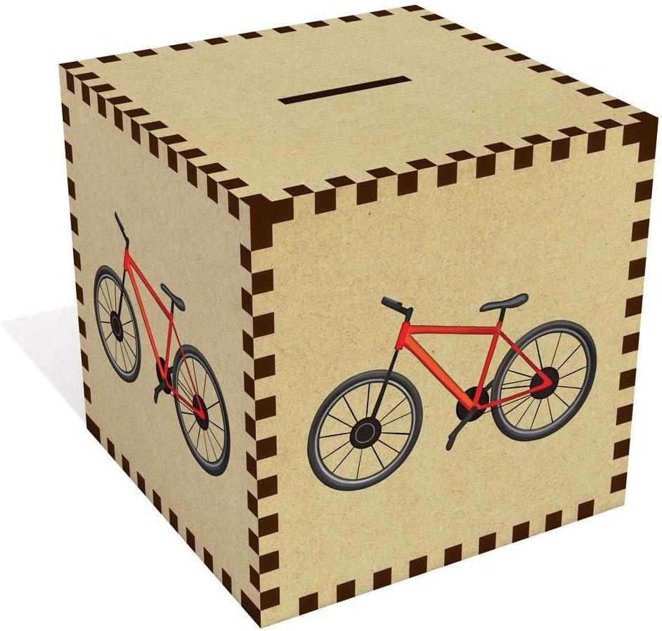 Azeeda Grande Bicicleta Roja Caja de Dinero / Hucha (MB00073160 ...