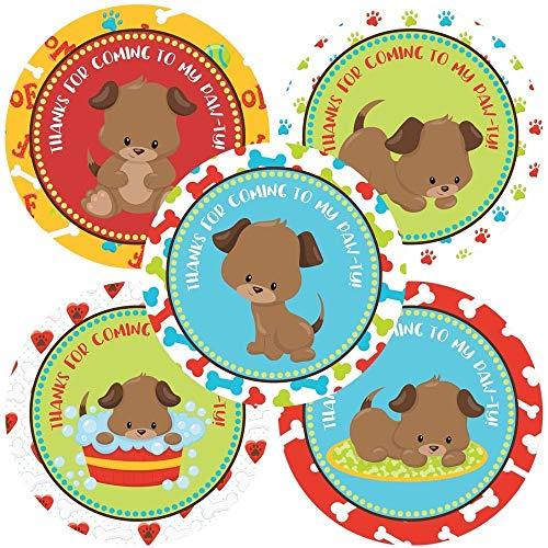 Puppy Dog Thank You Sticker Labels - Canine Pet Children Kids Favor Label Party Supplies - Set of 30