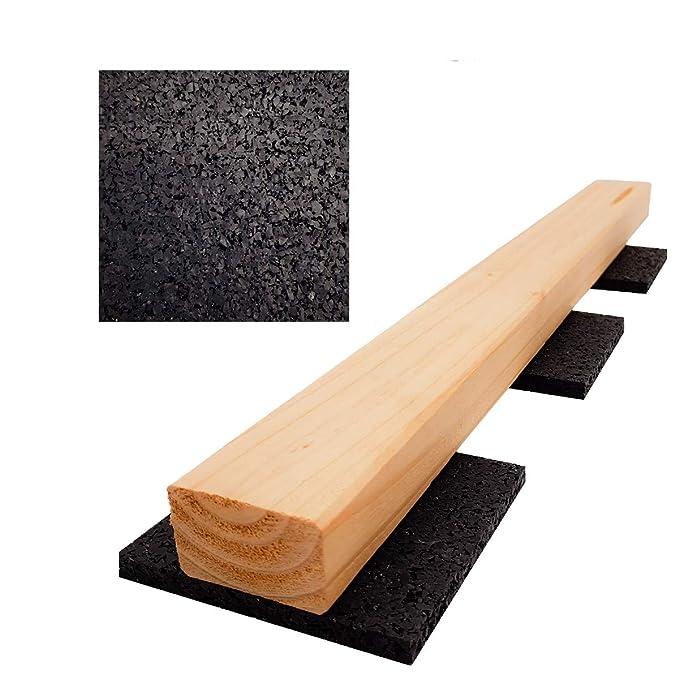 Terrassenbau 200 St/ück 10 mm 90 x 90 mm Terrassenpad Terrassenpads Gummigranulat