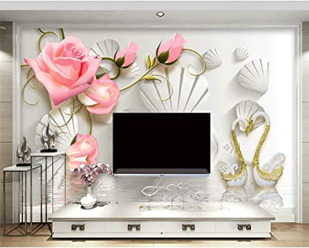 Amazon Com Pbldb Custom Wallpaper 3d Jewelry Stereo Tv Background 3d Mural Hearts And Hearts Living Room Bedroom Murals 3d Wallpaper 350x250cm Kitchen Dining