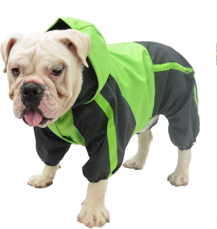 N / A Ropa de perro Chubasquero para perro perro Bulldog Francés Ropa impermeable Bulldog Pit Bull Terrier Americano Bully Pitbull Traje de Mascotas