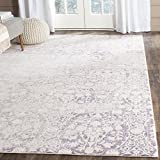 Safavieh Passion Collection PAS403A Vintage Medallion Watercolor Lavender and Ivory Distressed Area Rug (5'1″ x 7'7″)