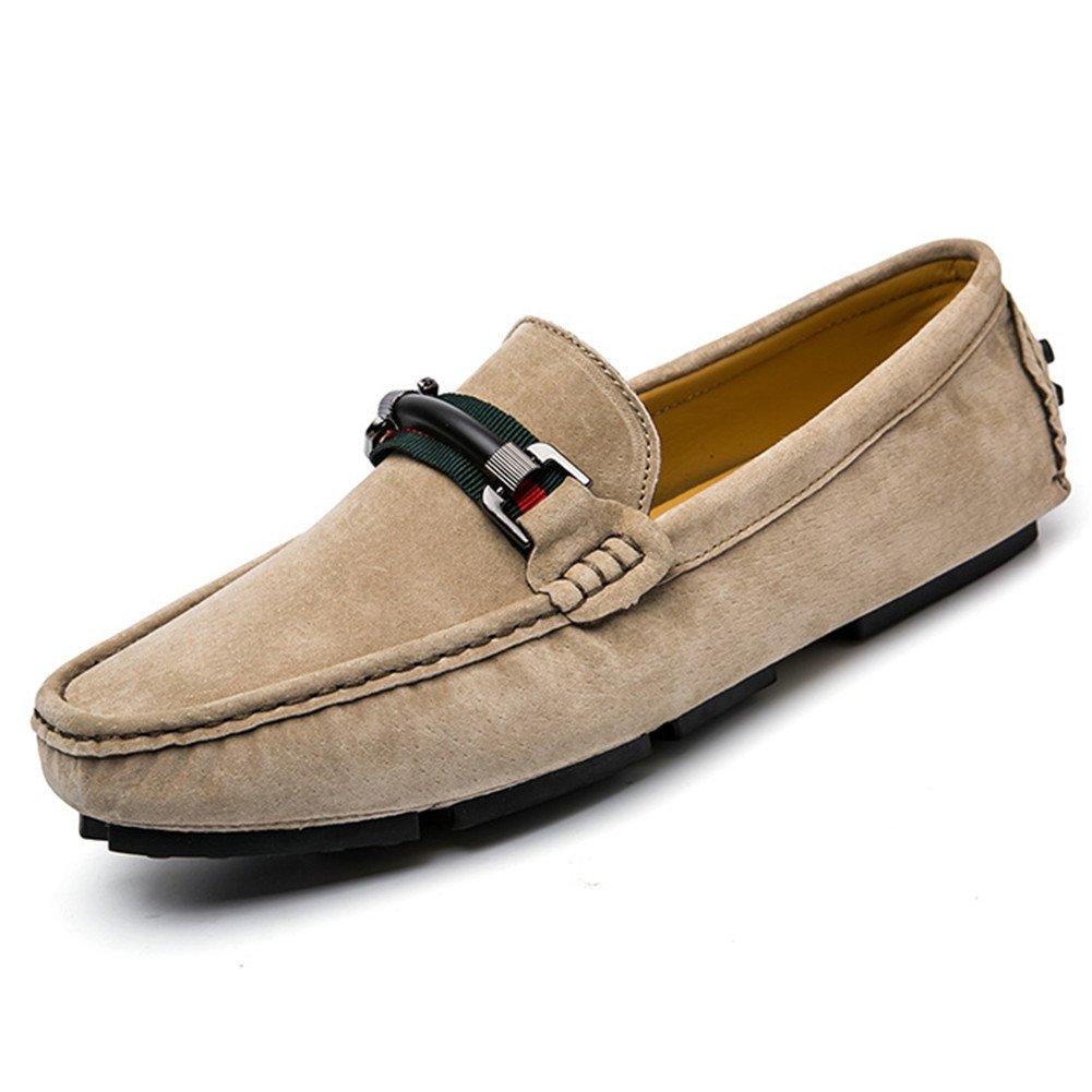 Mocasines Hombre Moda Transpirables Ante Conducción Zapatos Slip on Senderismo Caqui
