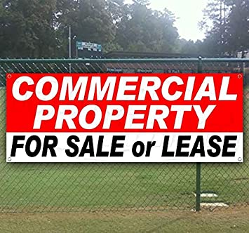 Commercial Property for Lease Banner is a 13 oz Premium Heavy Weight Vinyl Banner Sign with Metal Grommets for Store or Other Advertising in New Condition See Also Flags and displays