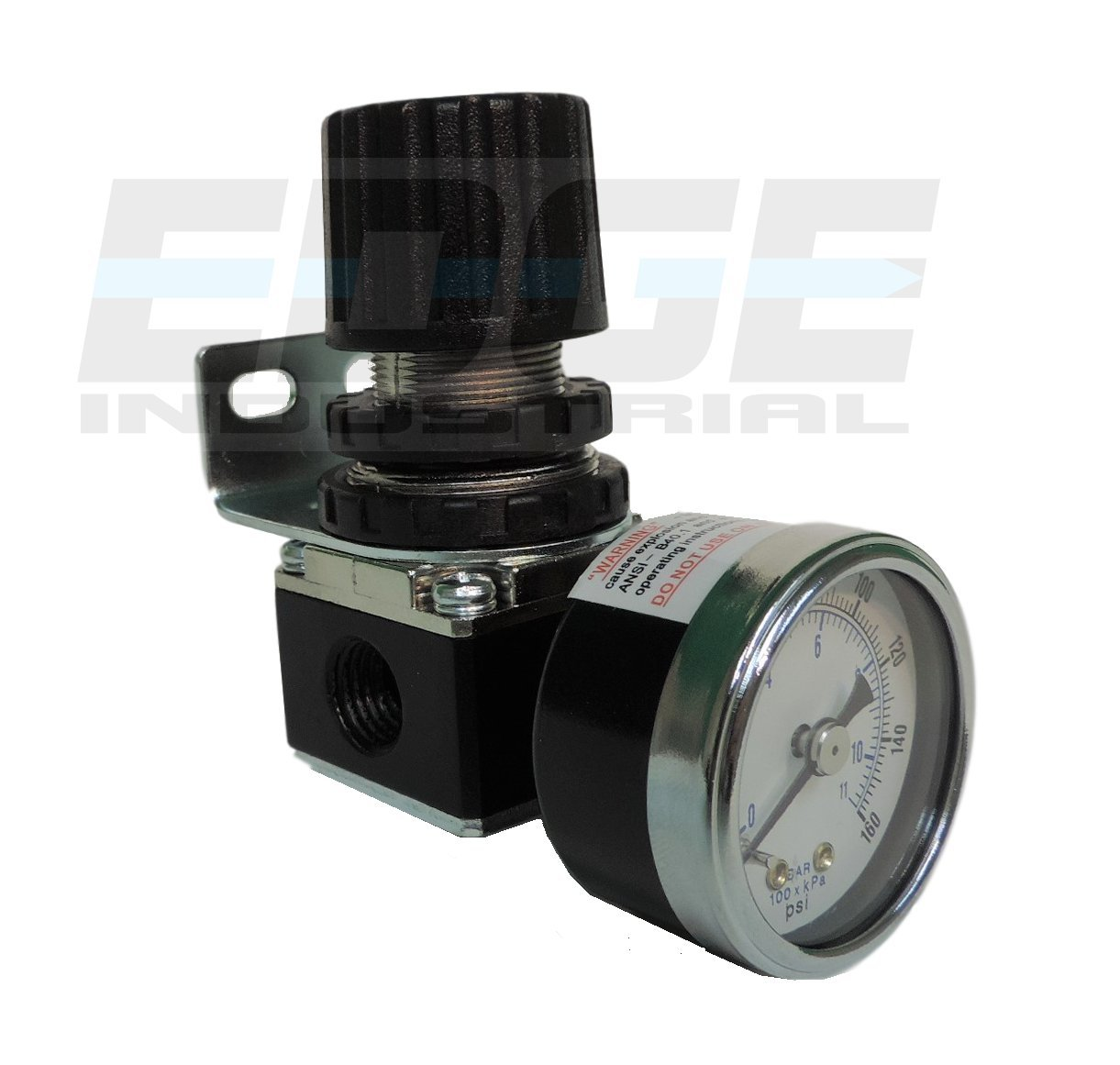 MINI PRESSURE REGULATOR FOR COMPRESSED AIR SYSTEMS, 1/4 NPT PORTS, ADJUST 7 TO 140 PSI 1/4 NPT PORTS T-H-B CO EDGE INDUSTRIAL