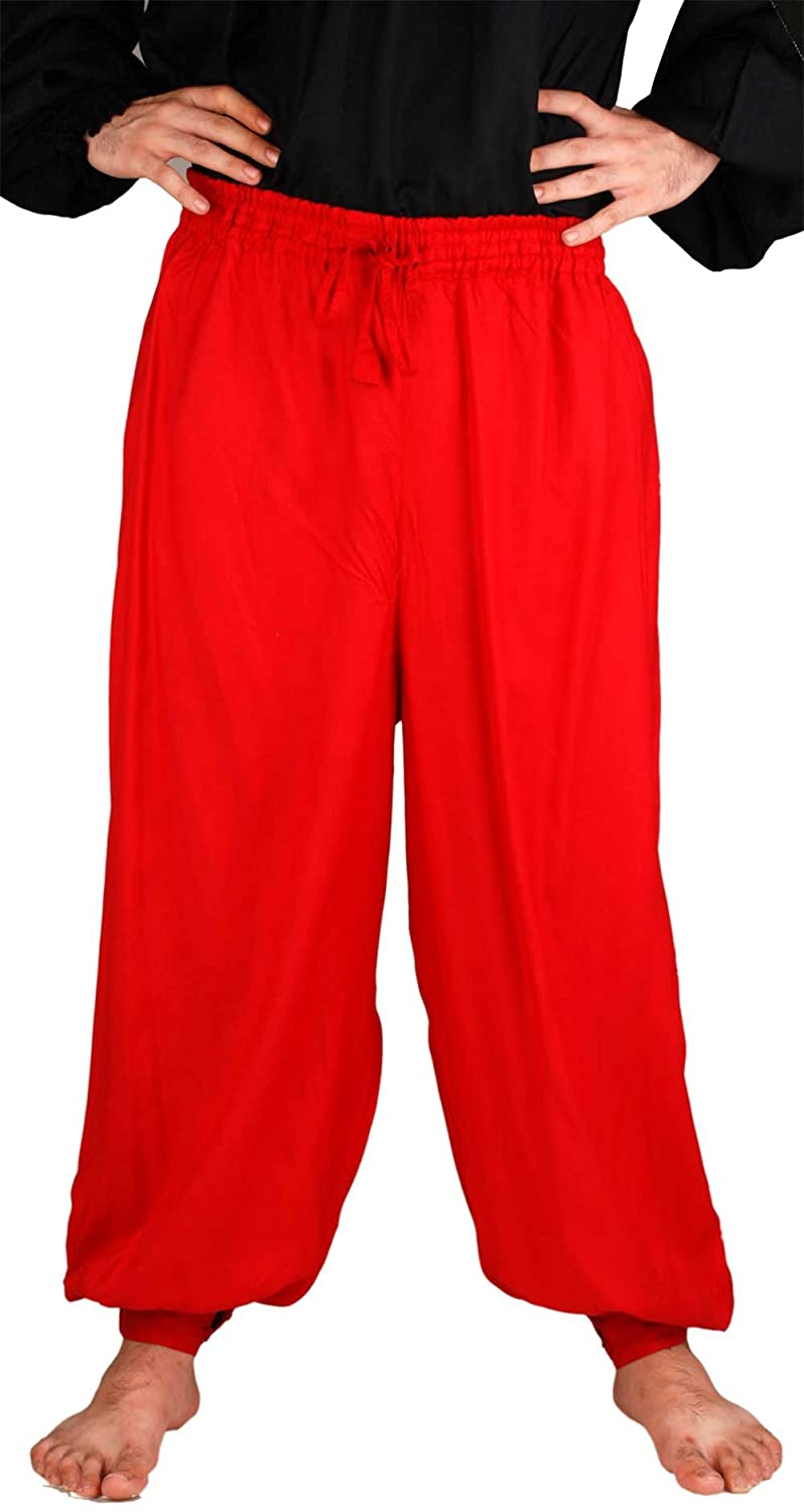 Medieval Pirate Poet's Red Harem Pants