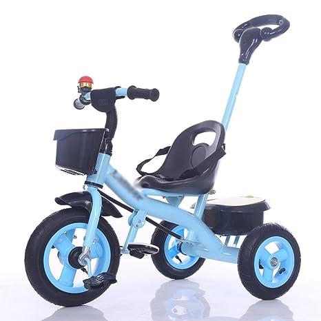 Triciclo y cochecito Triciclo para bebés, Pedal convertible Trike Push Bike Easy Steer triciclo coche