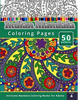 Coloring Books For Grownups Indian Mandala Pages Intricate Adults