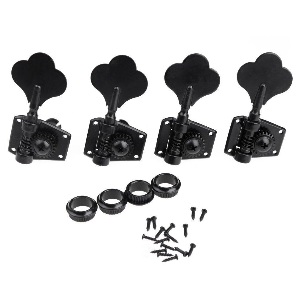 Cabezales sintonizadores para bajo elé ctrico de Buwico® , juego de clavijas de alta calidad, negro Buwcio