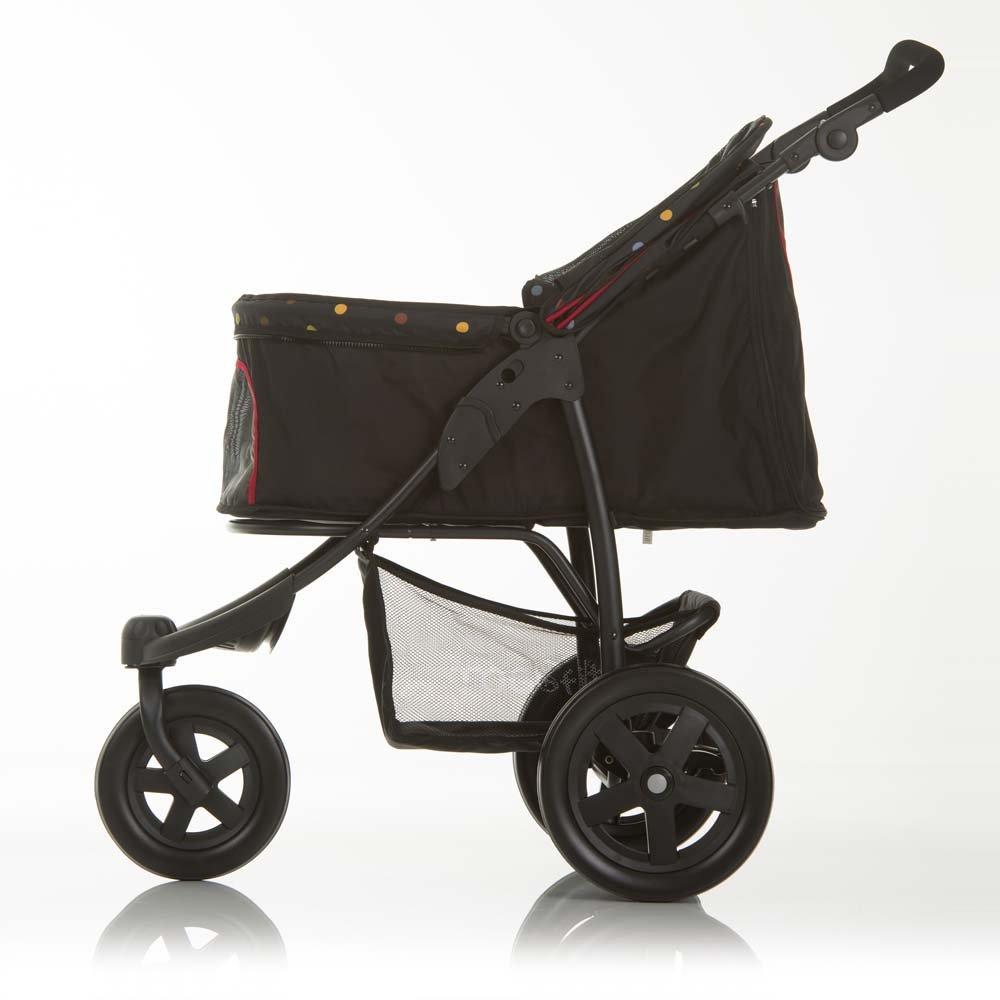 TOGfit Pet Roadster - Lujoso carrito para perros y mascotas hasta 32 kg, Ruedas grandes, altura regulable, incl. colchón, pequeño y plegable, color ...